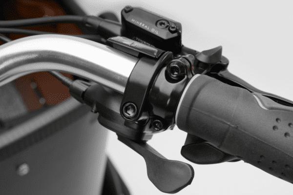 Højre styr Deluxe Wood El ladcykel Dreambikes