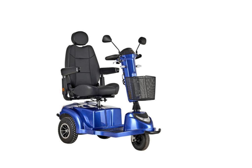 3 hjulet el scooter blå