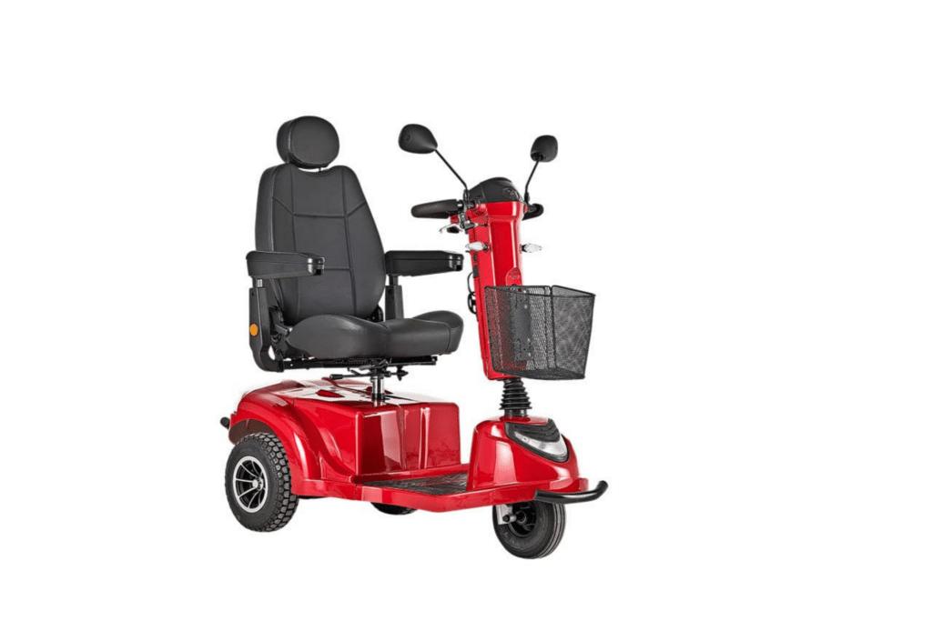 3 hjulet el scooter rød
