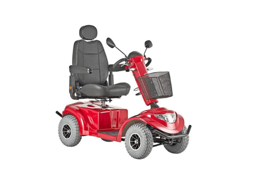 4 hjulet el scooter rød
